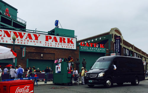 fenway park chauffeured limo van