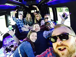 vt brewery tour limo van